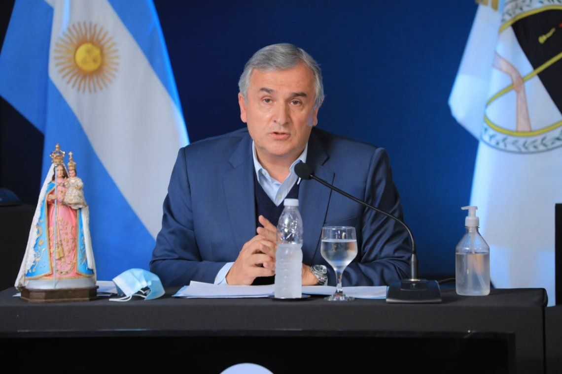 """El gobernador jujeño coincidió con la idea de """"disputar en las PASO con el PRO para definir la lista de Juntos por el Cambio""""."""
