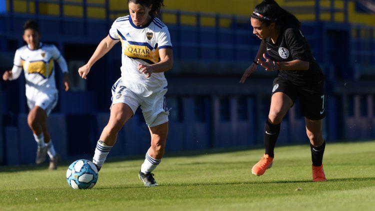Los equipos emeninos de Boca y San Lorenzo igualaron 1-1