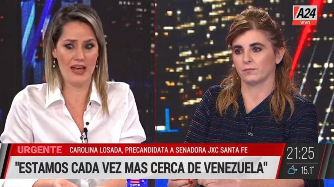 Carolina Losada sufrió su primer cruce como política