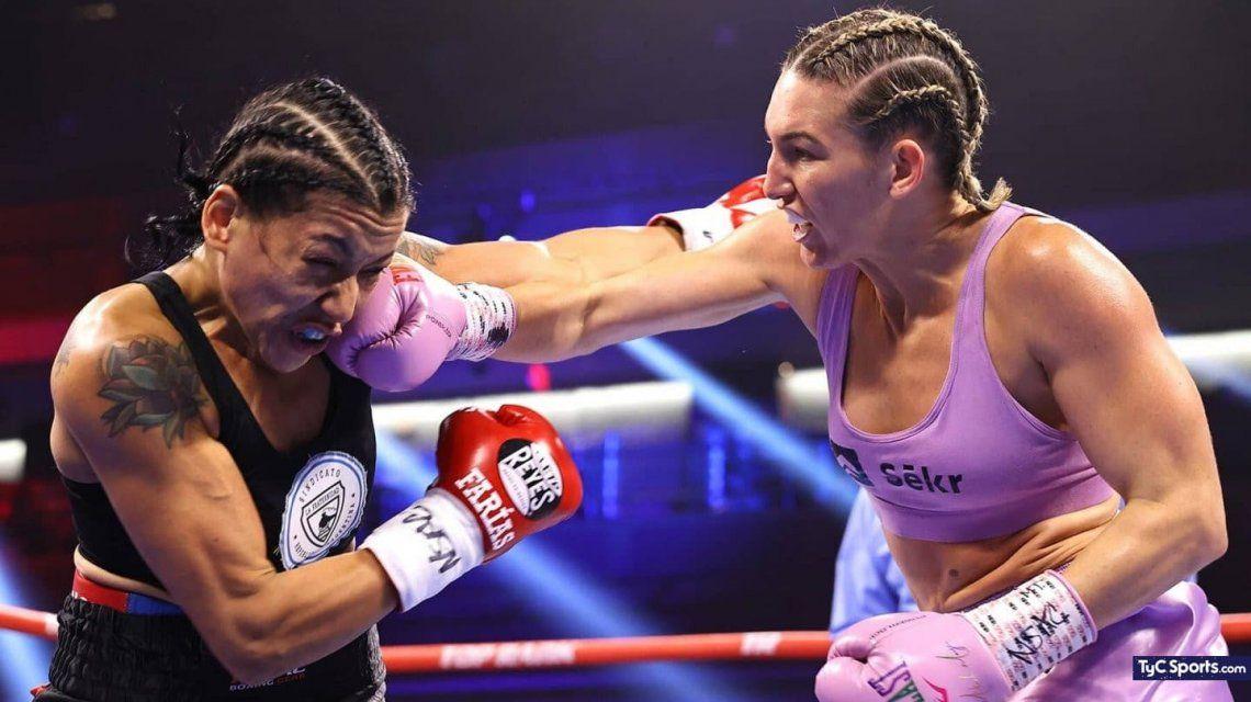 Boxeo: La Pantera Farías hizo su mejor pelea en Las Vegas y perdió ante Mikaela Mayer