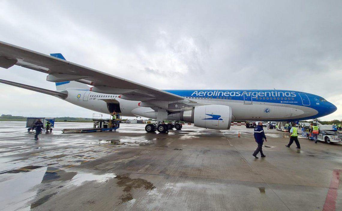 Hoy llegará un avión de Aerolíneas Argentinas con dosis de Sinopharm. Archivo.