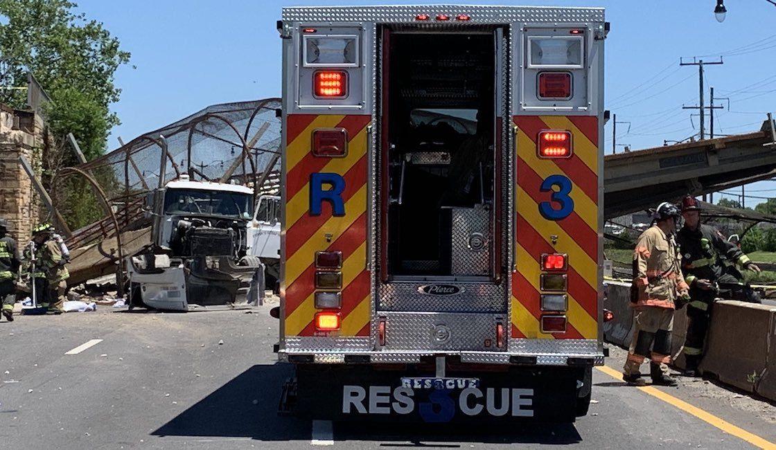 Washington: cinco heridos por caída de un puente peatonal