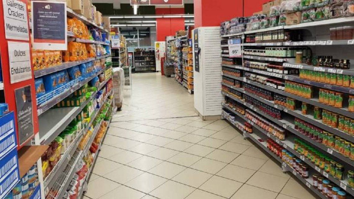 Las ventas en supermercados aumentaron 1