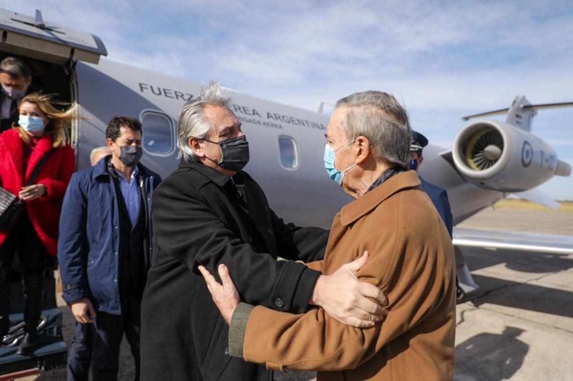 Alberto Fernández visita Córdoba por primera vez.
