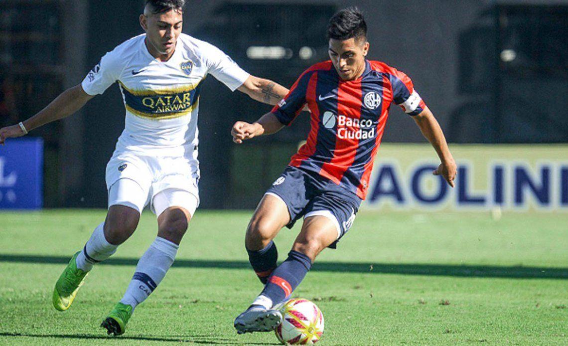 Jonás Acevedo fue capitán de la Reserva de San Lorenzo. Ahora está en Quilmes y pasaría a Huracán