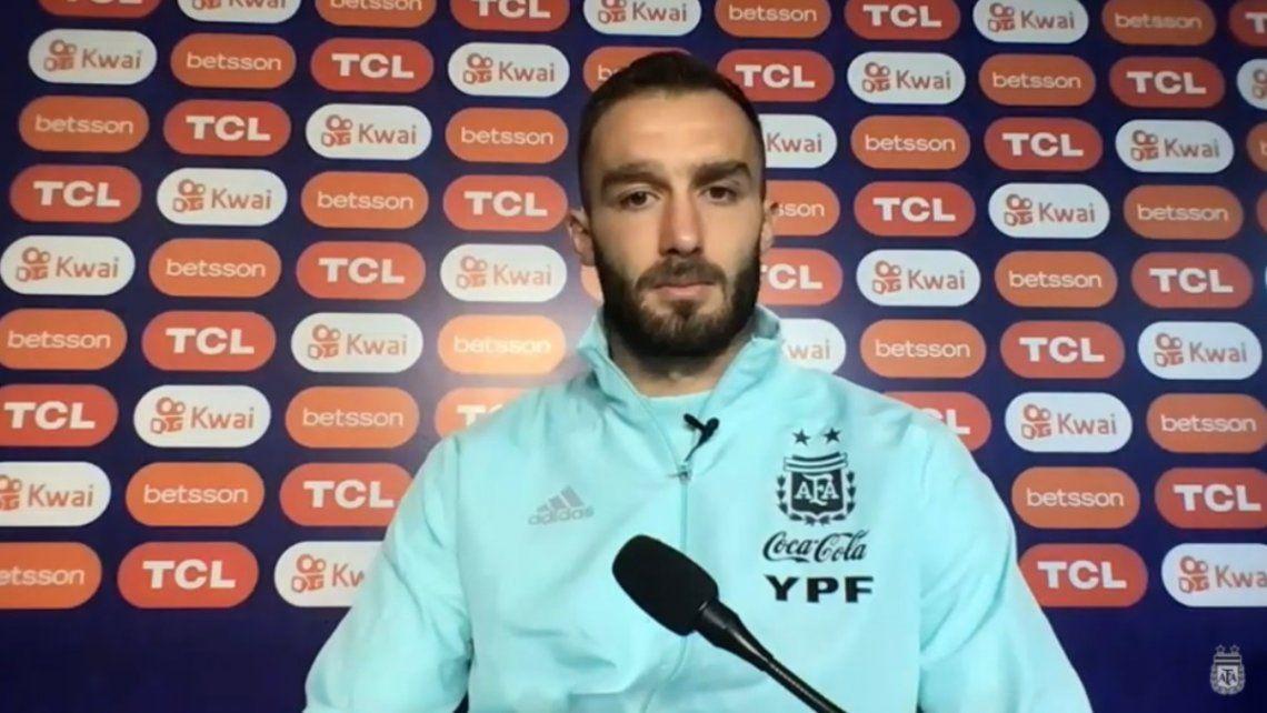 Germán Pezzella jugará desde el inicio este lunes.
