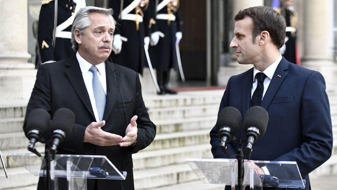 Esta hubiera sido la segunda vez de Alberto Fernández en Francia en lo que va del año.