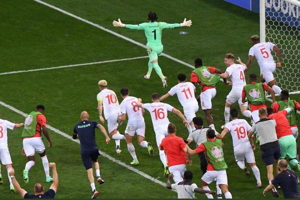 Suiza hizo historia y eliminó a Francia por penales.