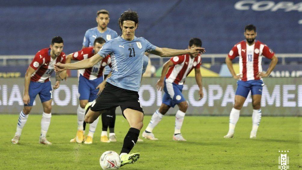Uruguay superó 1 a 0 a Paraguay y quedó segundo en el grupo.