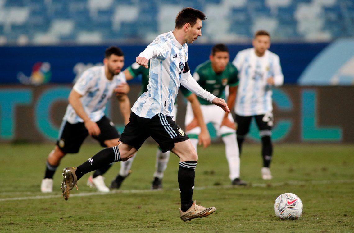 Las mejores fotos de la goleada de la Selección Argentina ante Bolivia
