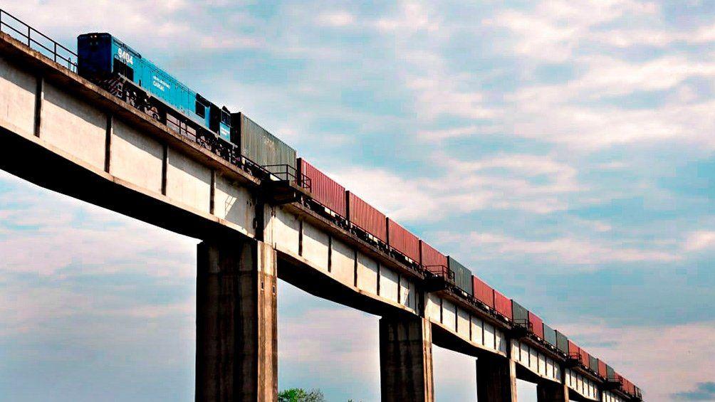 Los trenes de carga eran operados por Ferroexpreso Pampeano