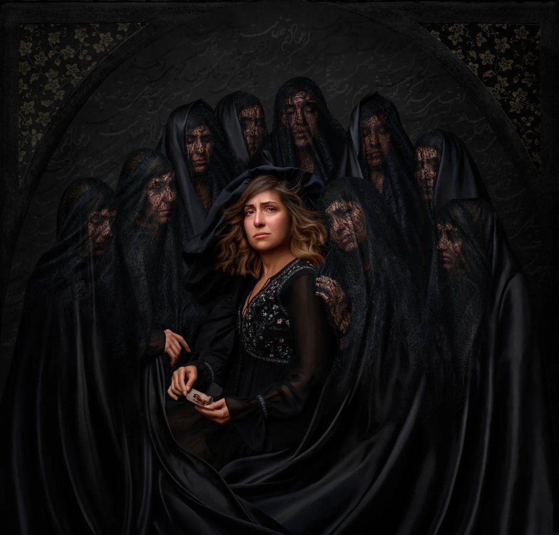 La soledad del dolor. Forough Yavari ganó el segundo premio en la categoría de historia de retrato por esta imagen.