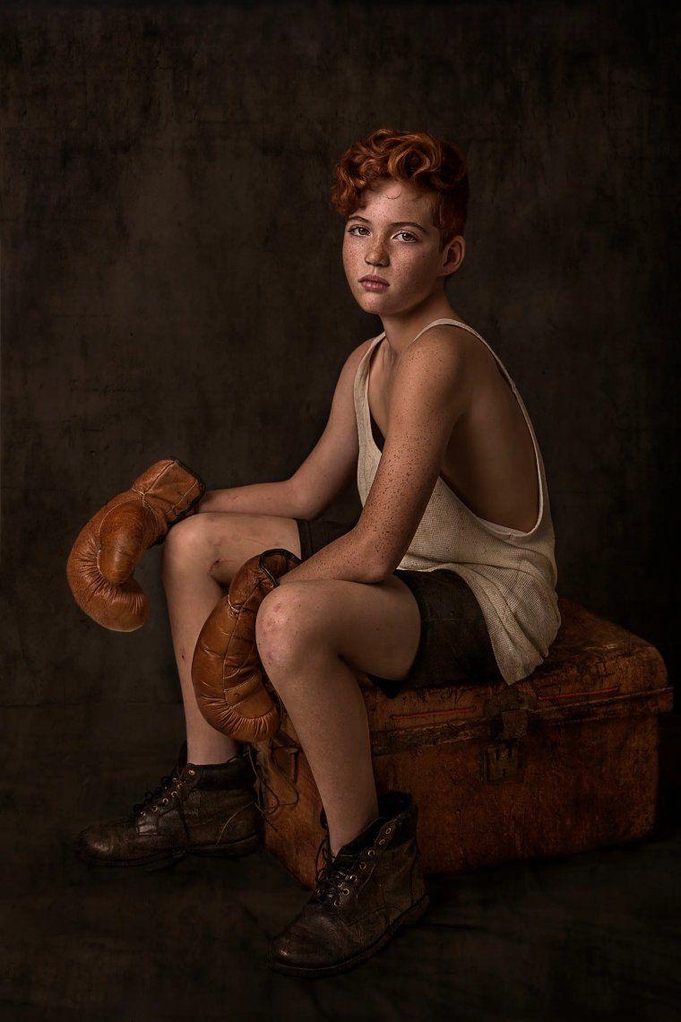 El boxeador. Nancy Flammea ha ganado el tercer premio por esta toma en la categoría de relatos de retrato