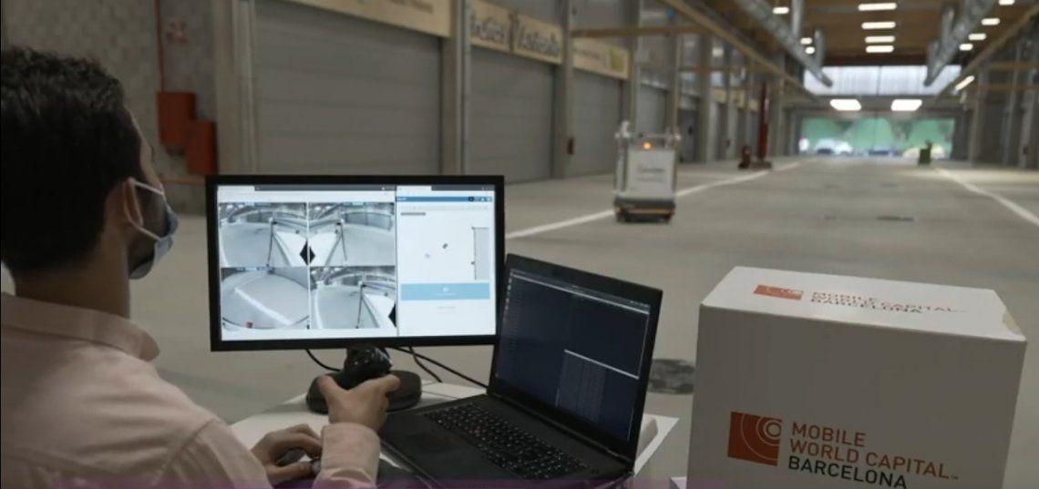 El Mercado Central de Barcelona inciará la prueba piloto del Robot desinfectante autónomo 5G.