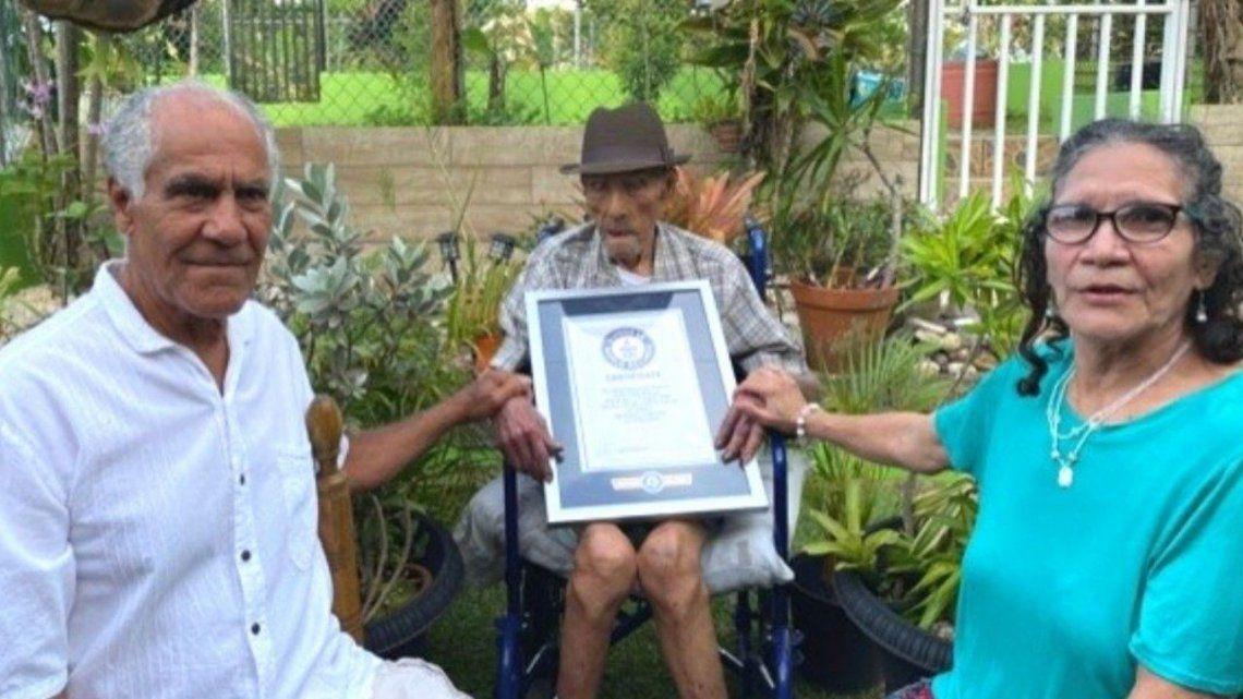 Guinness certificó al hombre más viejo del mundo: 112 años y 326 días