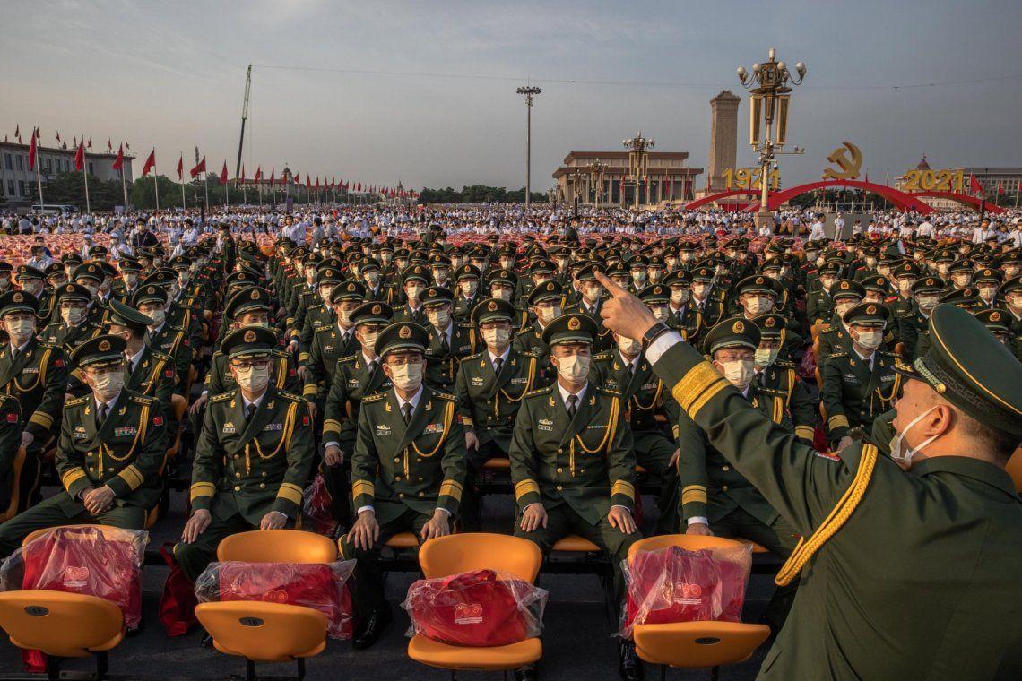 En fotos: la celebración del centenario del Partido Comunista chino