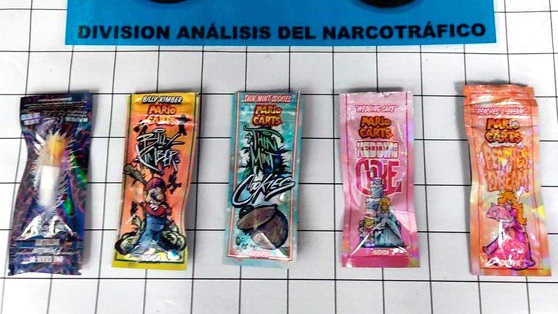 Marihuana sintética con un curioso envoltorio.