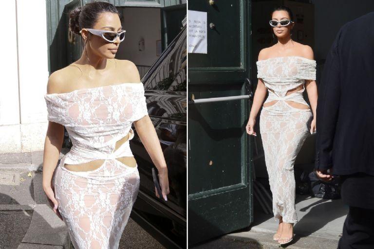 Kim Kardashian fue al Vaticano con un sensual vestido