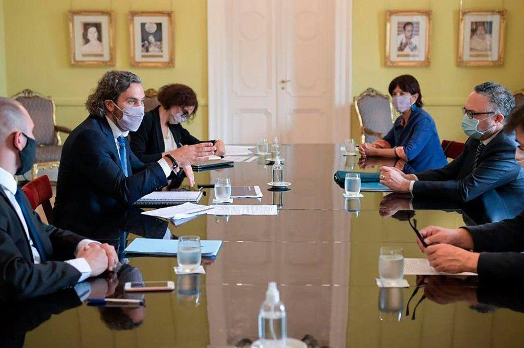 El gabinete económico deliberó en la Casa de Gobierno en una reunión encabezada por el jefe de Gabinete