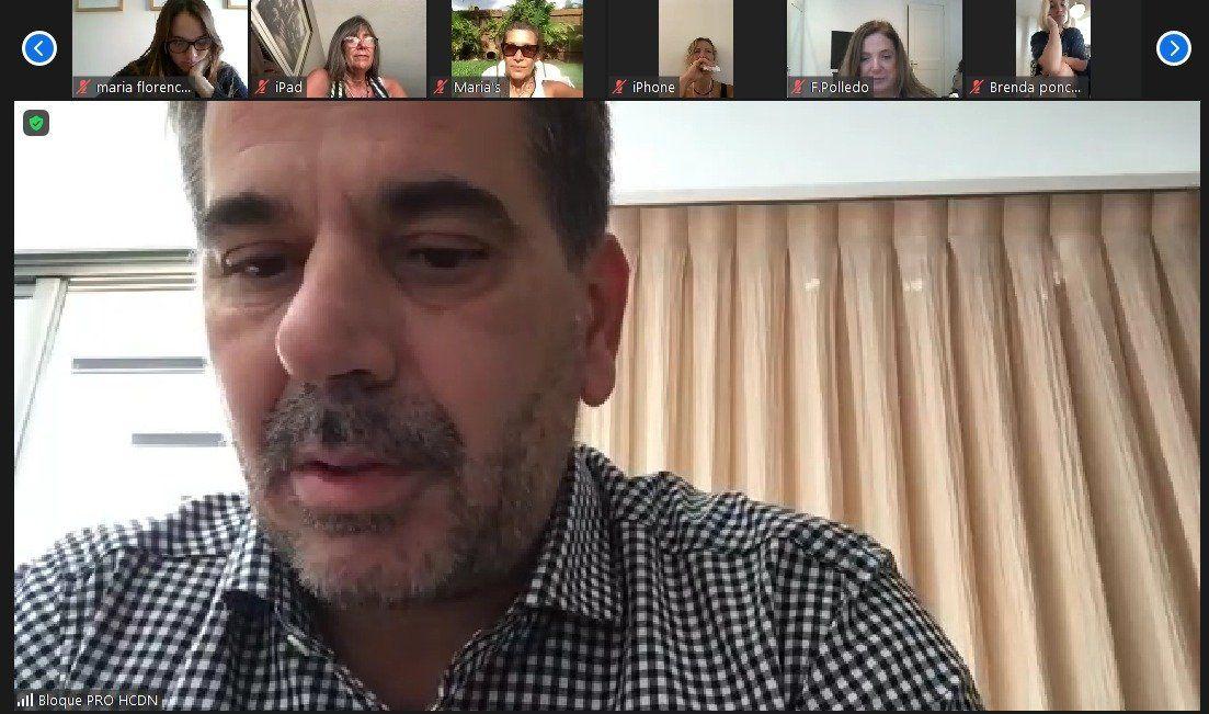 Cristian Ritondo tuvo un encuentro virtual con argentinos varados en el exterior por la pandemia