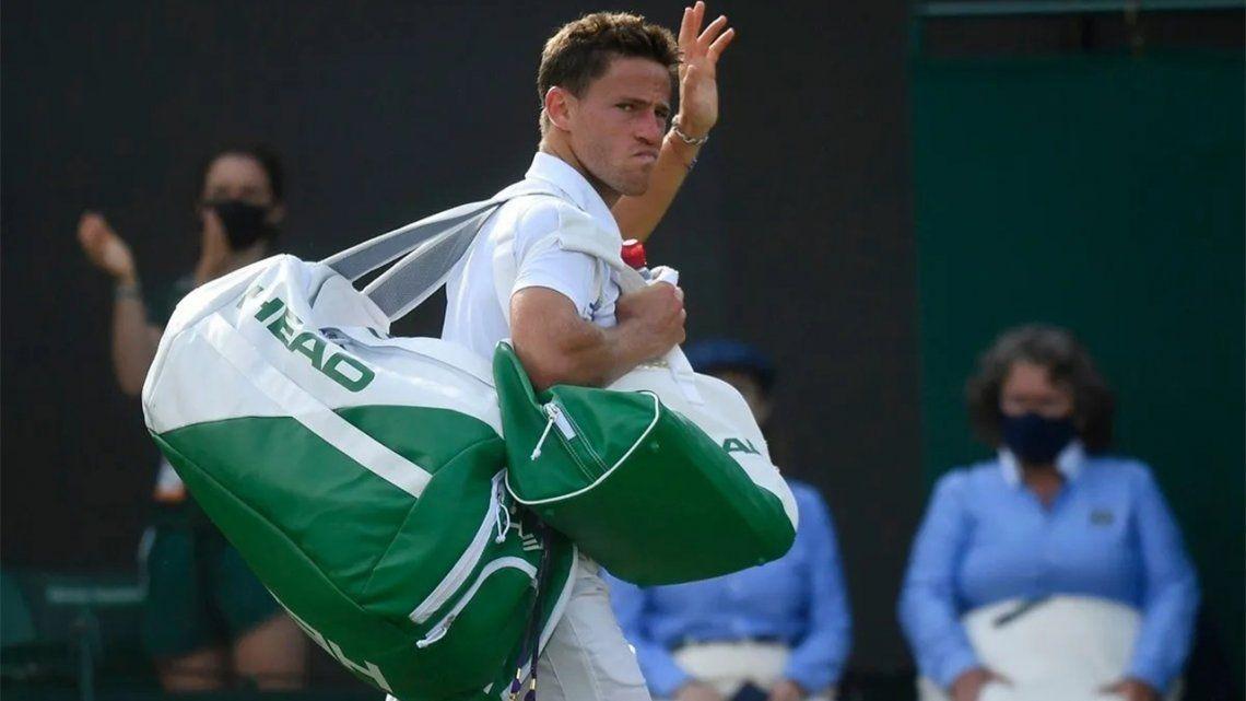 Diego Schwartzman perdió y quedó eliminado de Wimbledon.