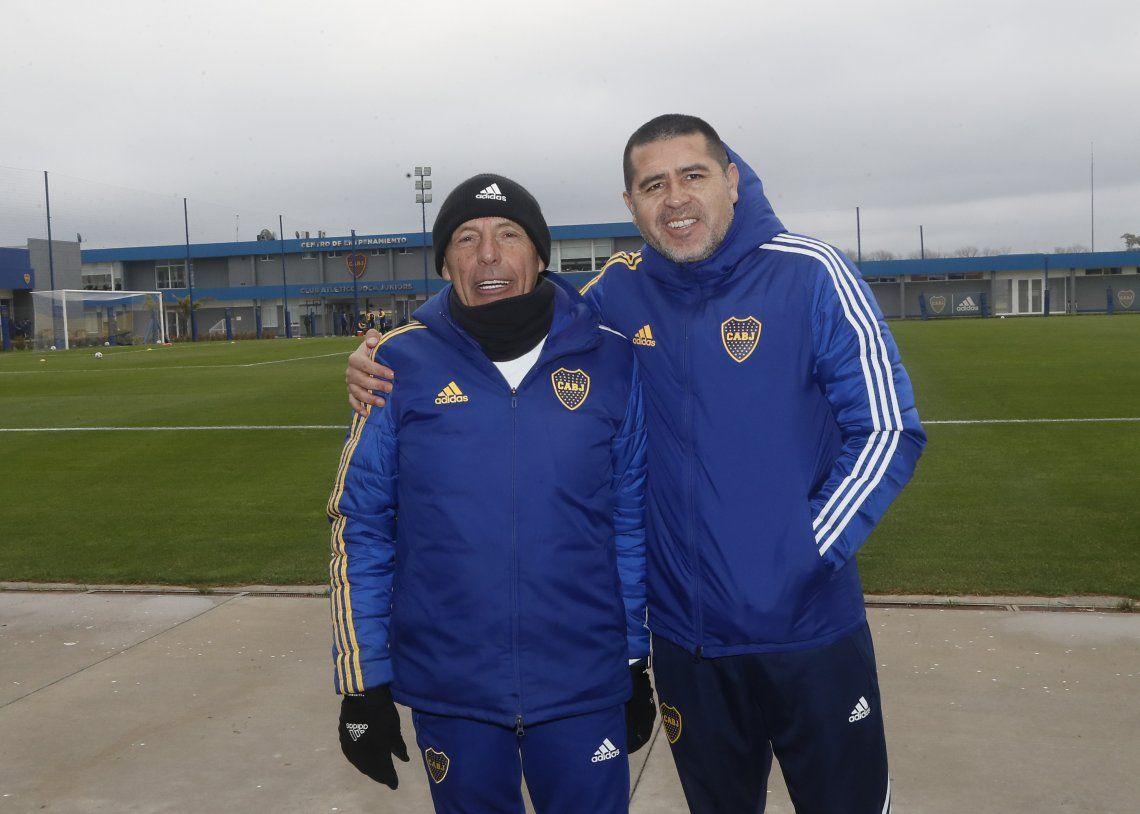 Miguel Ángel Russo y Juan Román Riquelme esperan novedades para el fin de semana