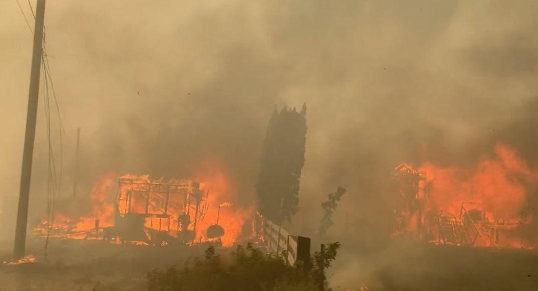 Incendios forestales en Canadá.