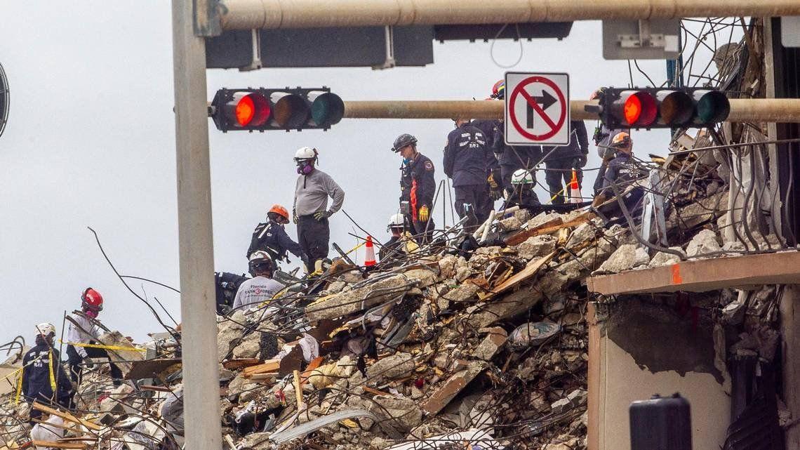 El trabajo de los rescatistas ya no seguirá en los restos del Champlain Towers South. Foto: El Nuevo Herald.