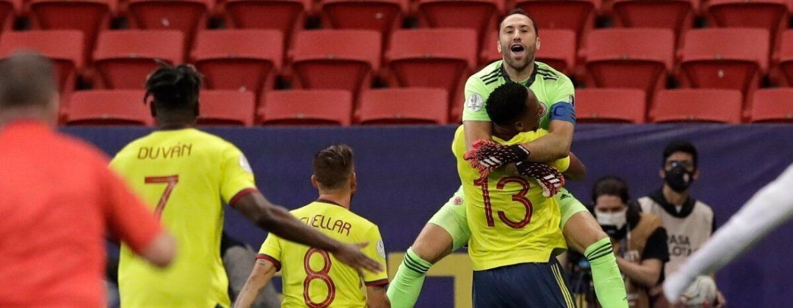 David Ospina es el jugador con más presencias en Colombia. Figura.