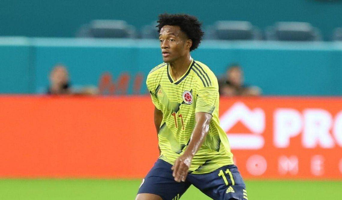 Atención Scaloni: Colombia vuelve a contar con Cuadrado.