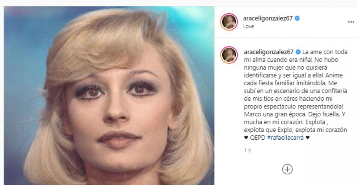 Las redes, llenas de mensajes para despedir a Raffaella Carrá