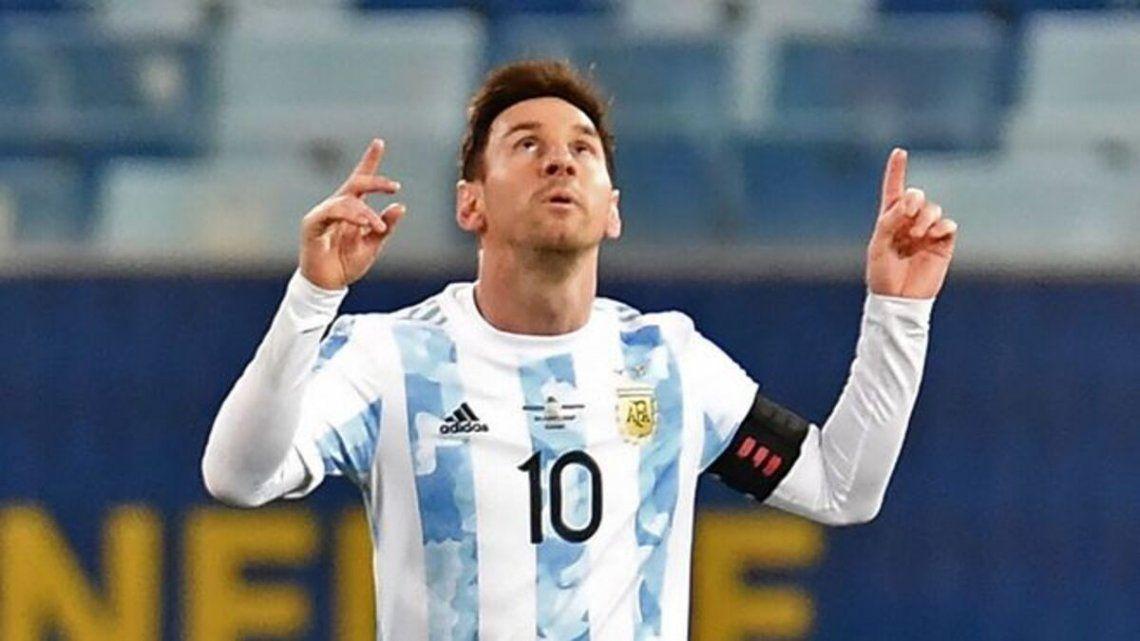 Lionel Messi es figura de la Copa América con la selección argentina.