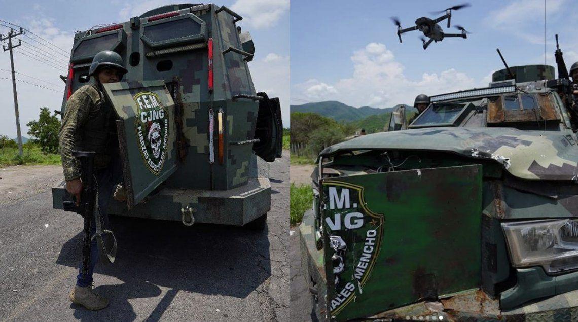 México: el Cártel Jalisco Nueva Generación exhibió sus narcotanques