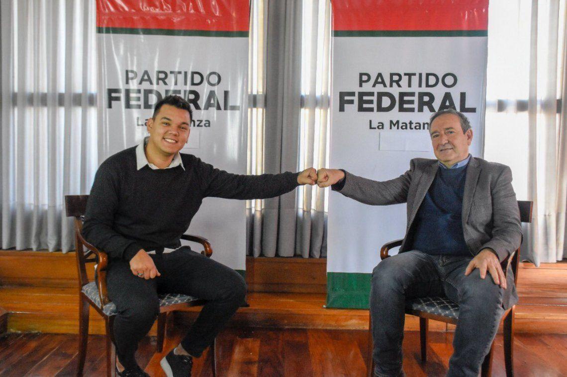 Brian Lanzelotta (izquierda) fue convocado por Miguel Saredi (derecha)