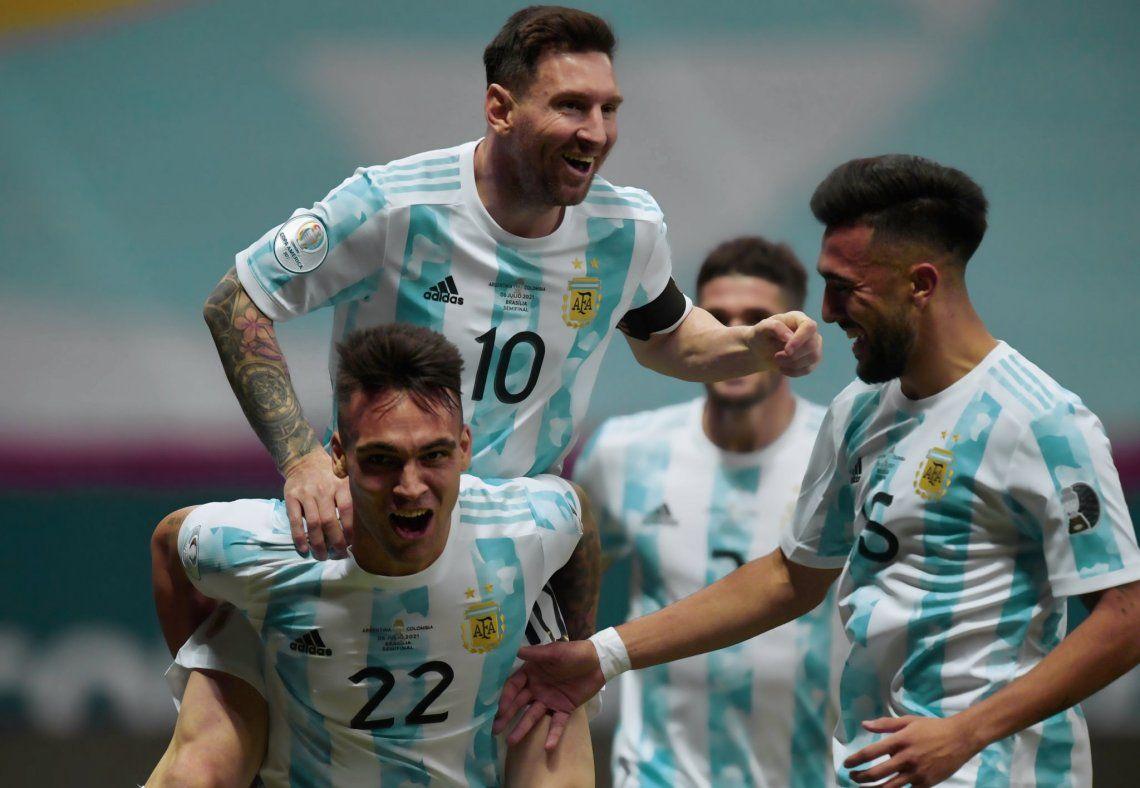 Argentina y Colombia empataron 1-1 y van a penales