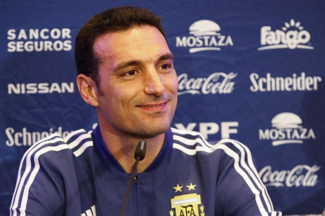 Lionel Scaloni está feliz con sus jugadores