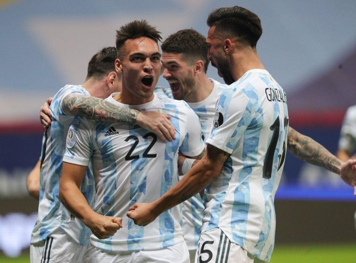 Las mejores fotos del triunfo de la Selección Argentina ante Colombia