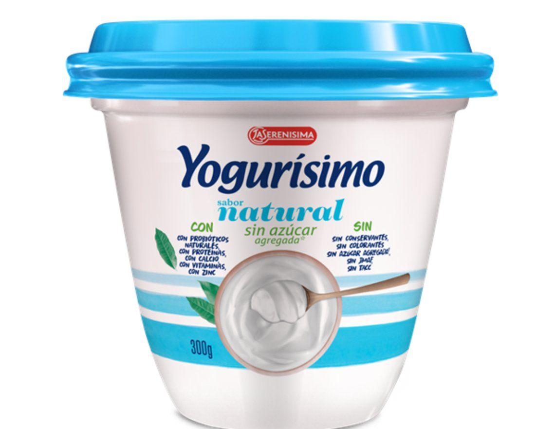 Yogurísimo sabor Natural tiene una presentación más grande y rendidora