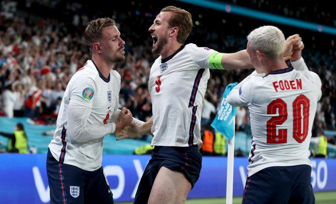 Inglaterra finalista de la Erucopa.