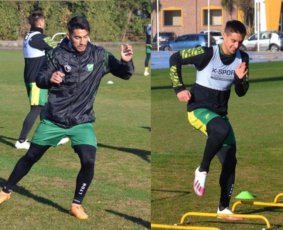 Soto y Gutiérrez entrenaron junto al plantel de Defensa y justicia.