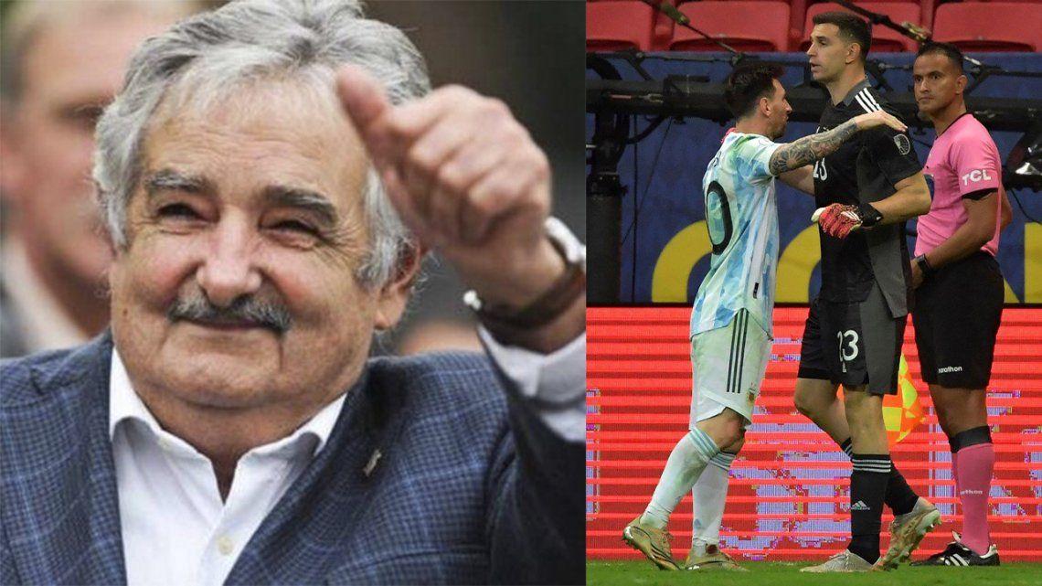 Pepe Mujica elogió la hazaña realizada por el Dibu Martínez.