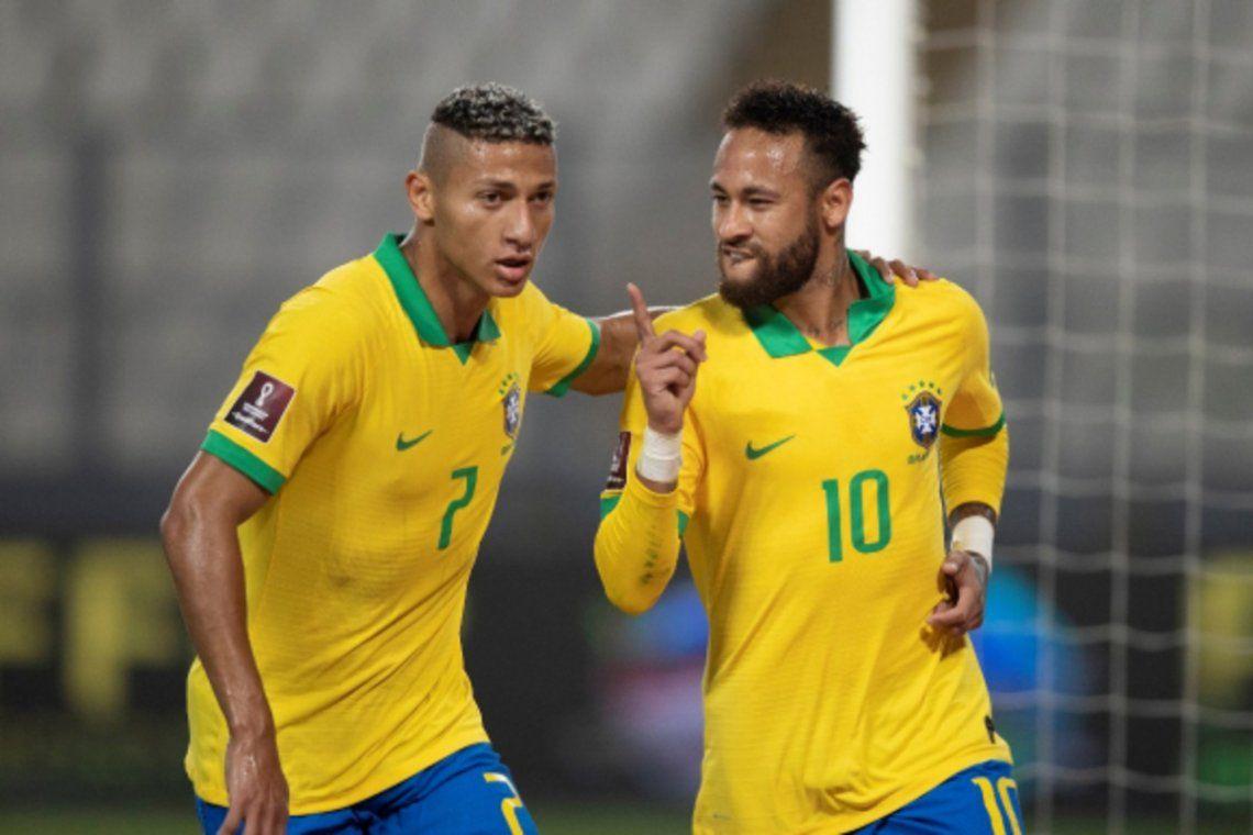 Richarlison y Neymar