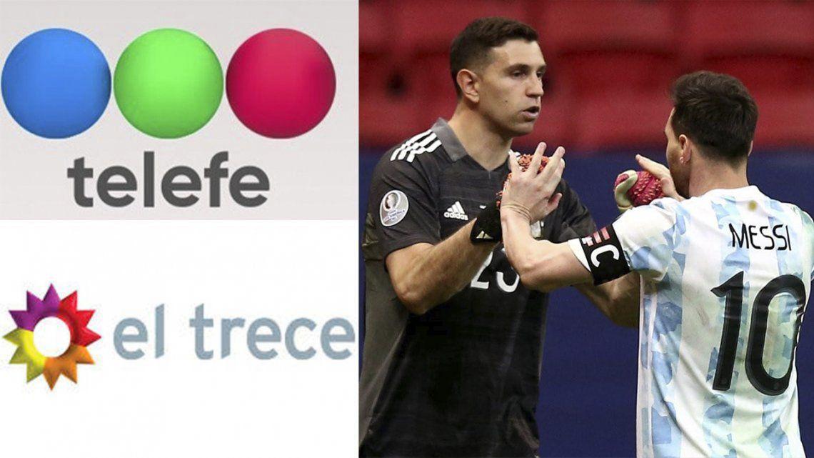 Telefe y El Trece cambian grilla por la final de Argentina.