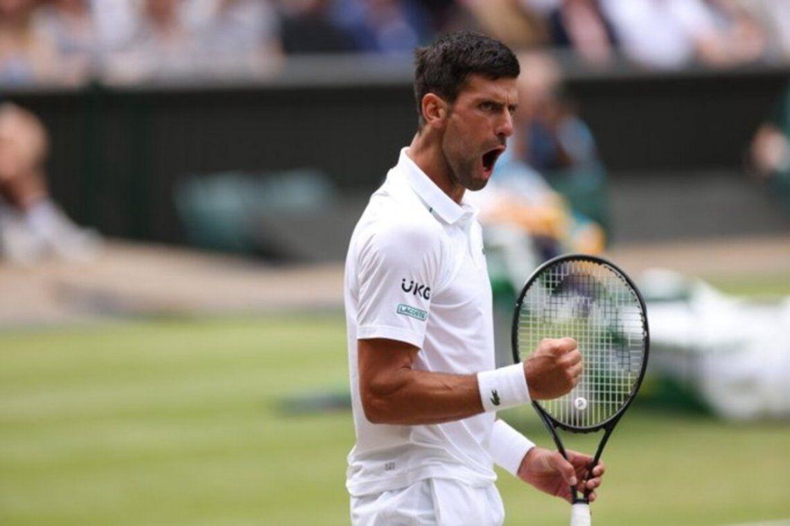 Novak Djokovic alcanzó la final de Wimbledon