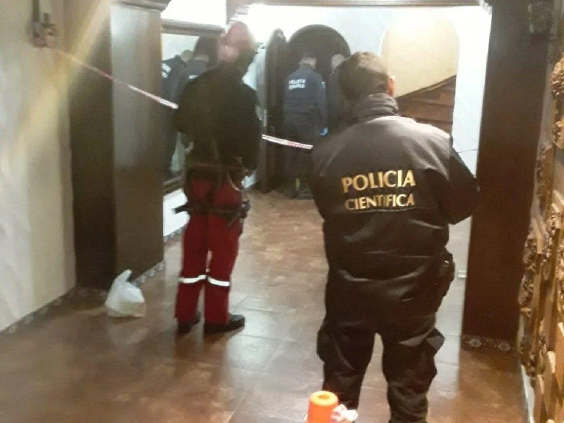 Policía científica de Mar del Plata trabajó en el lugar donde ocurrió el fatal accidente.
