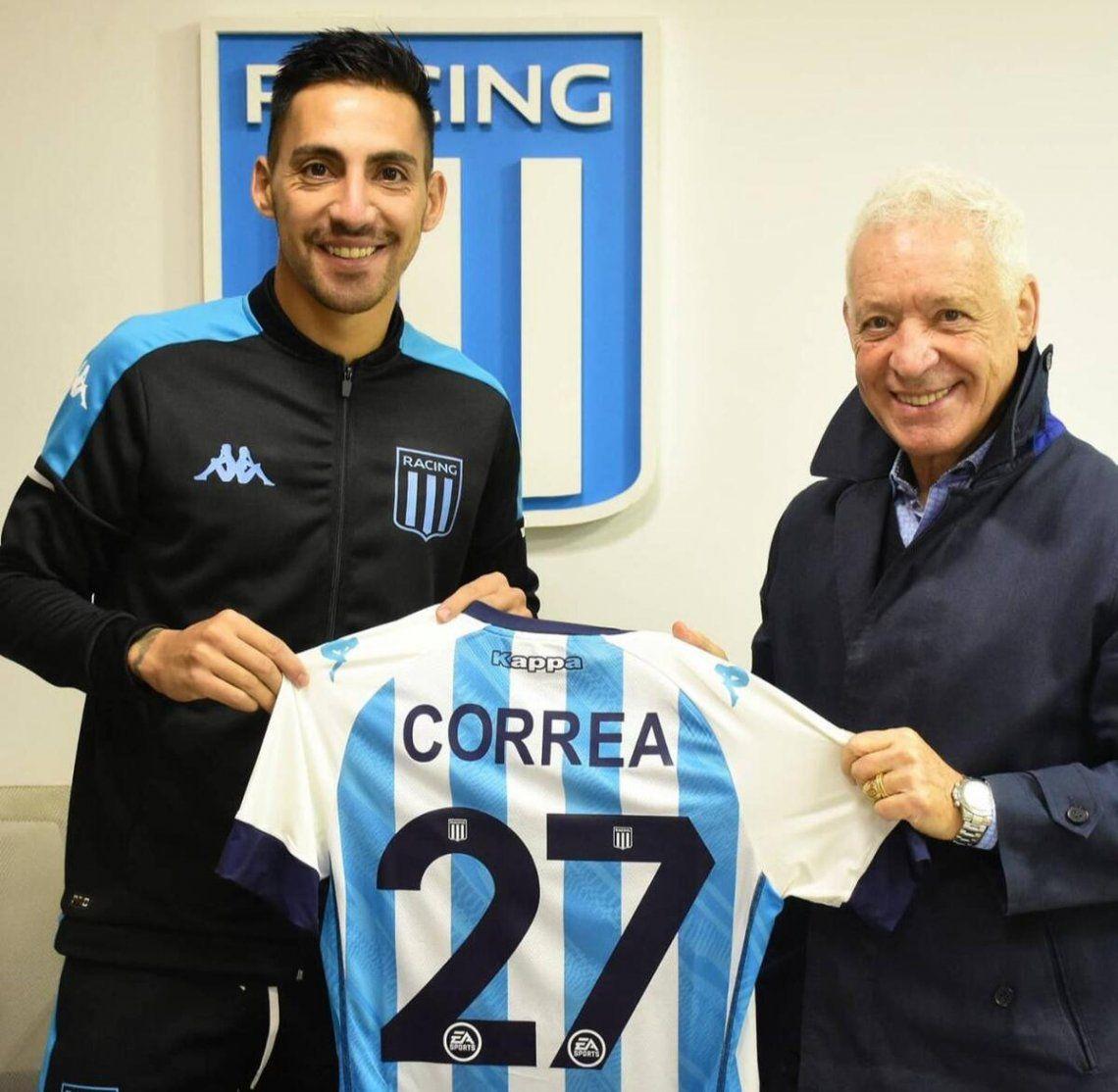 Javier Correa nuevo jugador de Racing.