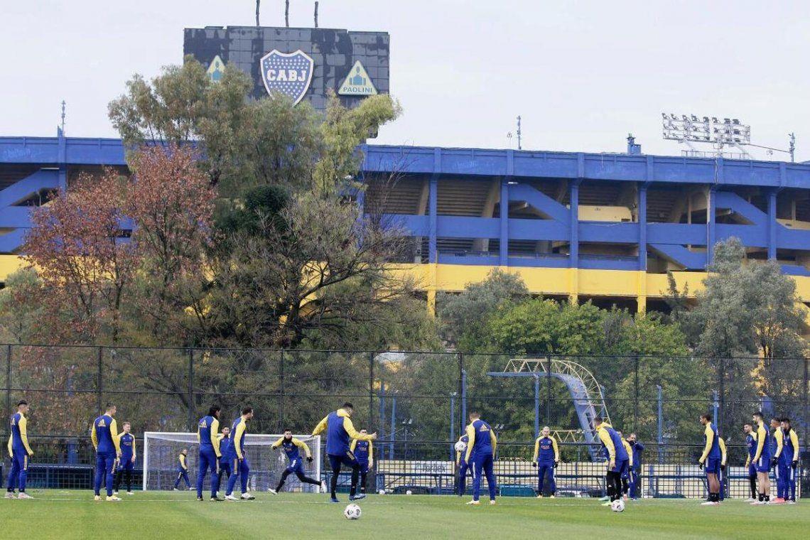 Boca se prepara para el duelo de mañana por la Libertadores.