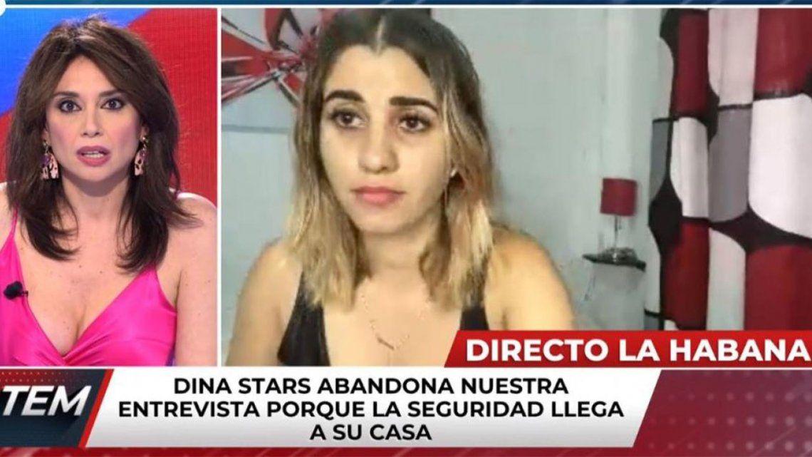 Detienen a youtuber cubana durante una entrevista en vivo.