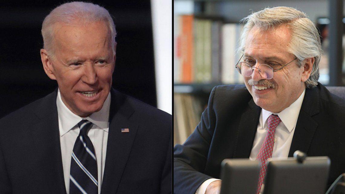 Biden agradeció a Fernández su contribución en la lucha contra el cambio climático