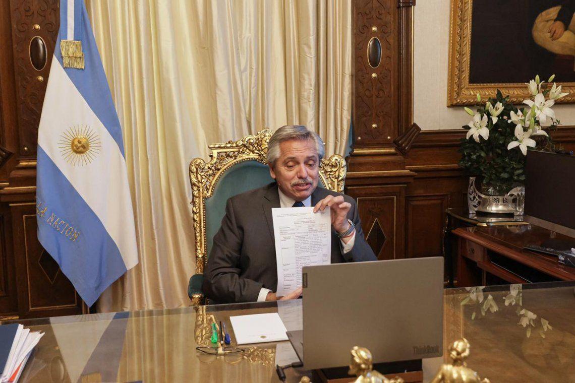El Presidente realizó el anuncio.